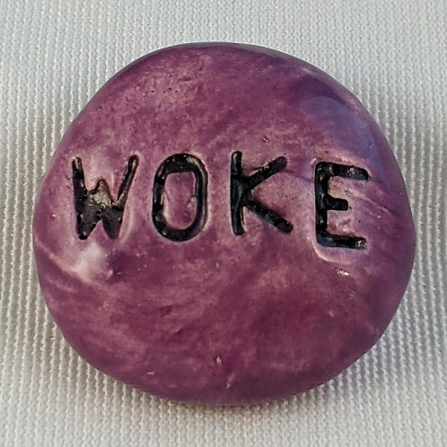WOKE Pocket Stone - Amethyst Purple