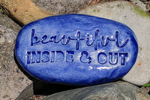 BEAUTIFUL INSIDE & OUT Pocket Stone - Exotic Blue
