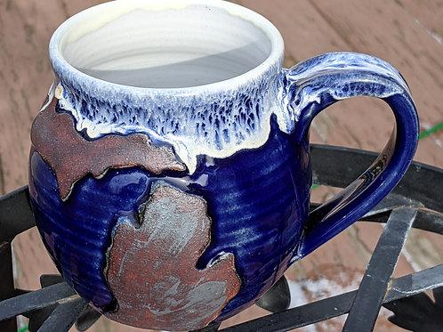 MICHIGAN MUG by TC Pottery Studio - Cobalt Blue