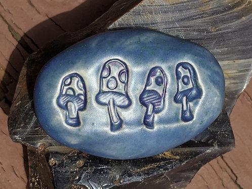MUSHROOMS Pocket Stone - Slate Blue