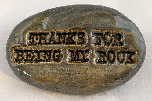 THANKS FOR BEING MY ROCK Pocket Stone - Antique Blue