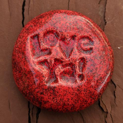 LOVE YA! Pocket Stone - Ruby Shimmer