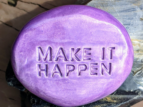 MAKE IT HAPPEN Pocket Stone - Amethyst Purple