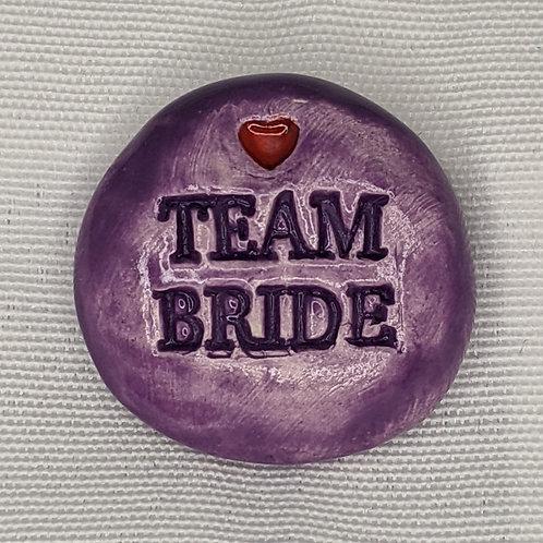 TEAM BRIDE Pocket Stone - Amethyst Purple