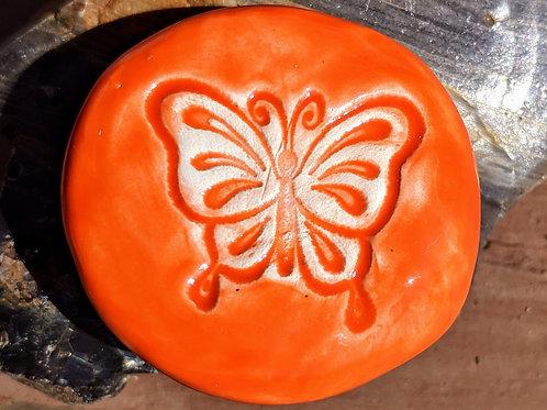 BUTTERFLY Pocket Stone - Carrot Orange