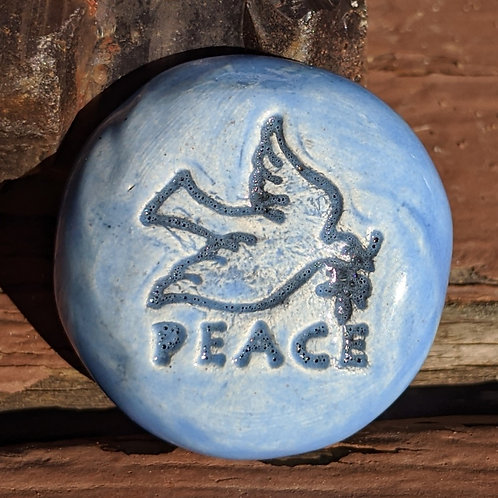 PEACE DOVE Pocket Stone - Bluebonnet