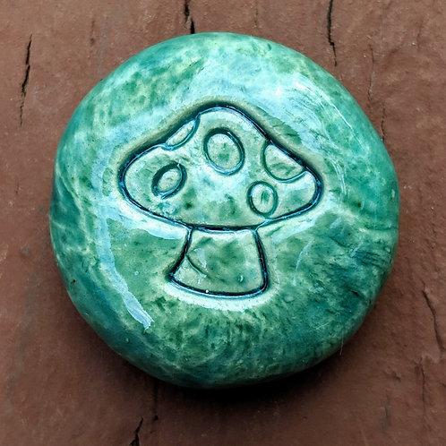 MUSHROOM Pocket Stone - Aquamarine