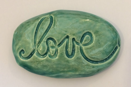 LOVE Pocket Stone - Aquamarine