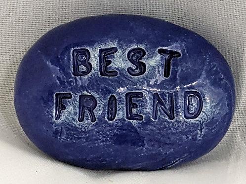 BEST FRIEND Pocket Stone - Royal Blue
