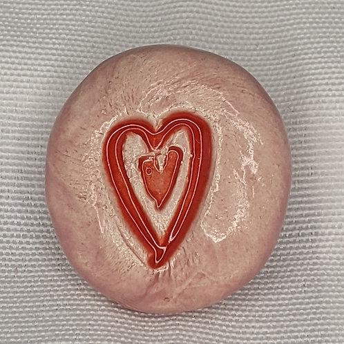 RED HEART Magnet - Petal Pink