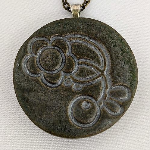 BOTANICAL Pendant - Metallic Patina