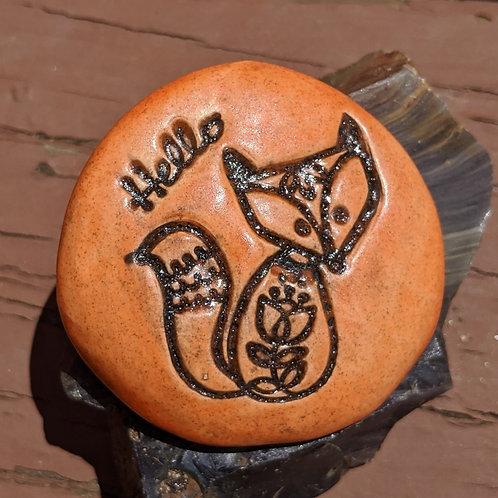 FOX w/ HELLO Pocket Stone - Tuscan Sun