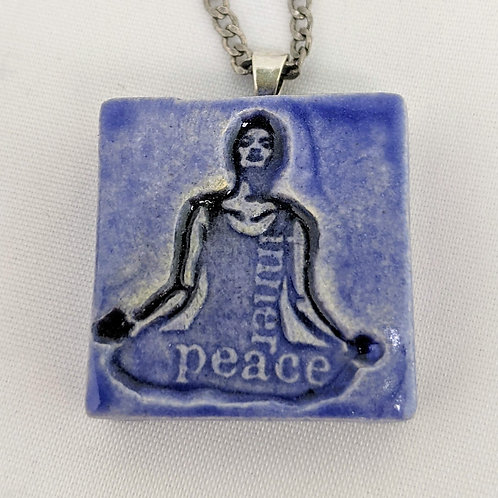 INNER PEACE YOGA Pendant / Necklace - Exotic Blue