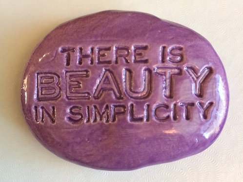 THERE IS BEAUTY IN SIMPLICITY Pocket Stone - Amethyst Purple
