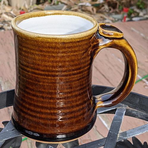 STONEWARE MUG by TC Pottery Studio - Textured Amber Brown