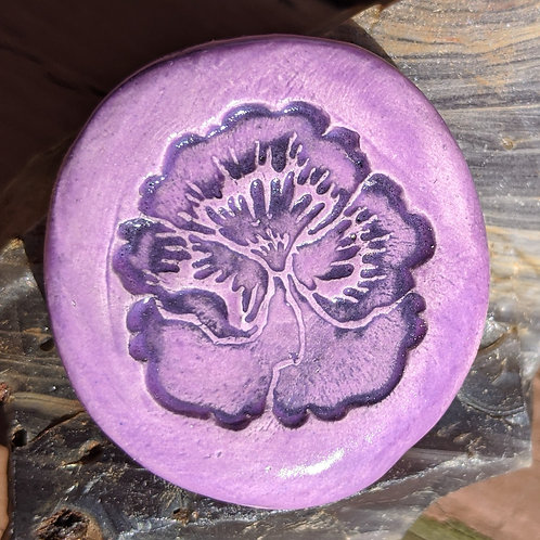 PANSY Pocket Stone - Amethyst Purple