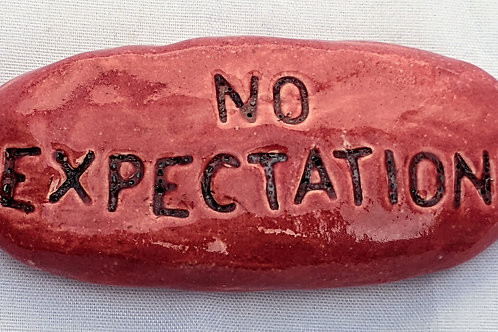 NO EXPECTATIONS Pocket Stone - Rose Red