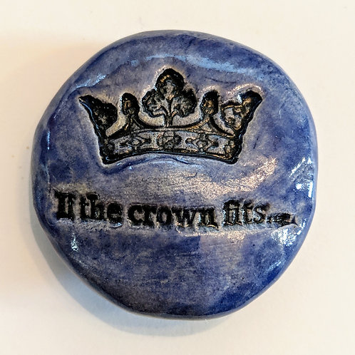 IF THE CROWN FITS Pocket Stone - Exotic Blue