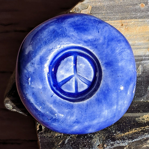 PEACE SIGN Pocket Stone - Midnight Blue