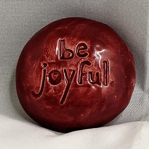 BE JOYFUL Pocket Stone - Raspberry