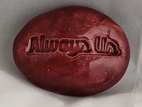 ALWAYS US Pocket Stone - Raspberry