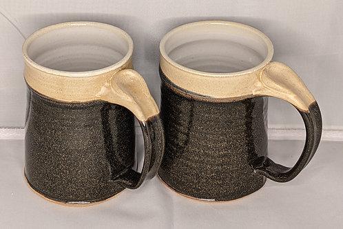 STONEWARE MUGS by TC Pottery Studio - Black Gold Tea Dust