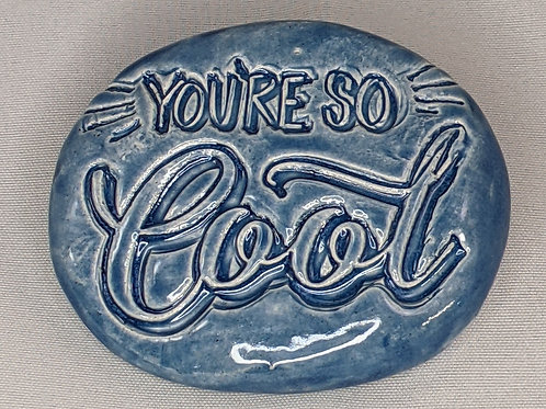 YOU'RE SO COOL Pocket Stone - Sapphire Blue