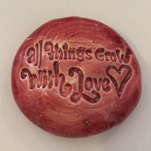 ALL THINGS GROW WITH LOVE Pocket Stone - Sirocco Red