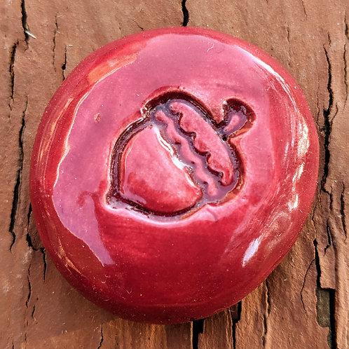 ACORN Pocket Stone - Raspberry Red