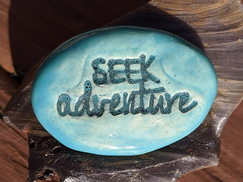SEEK ADVENTURE Pocket Stone - Aquamarine