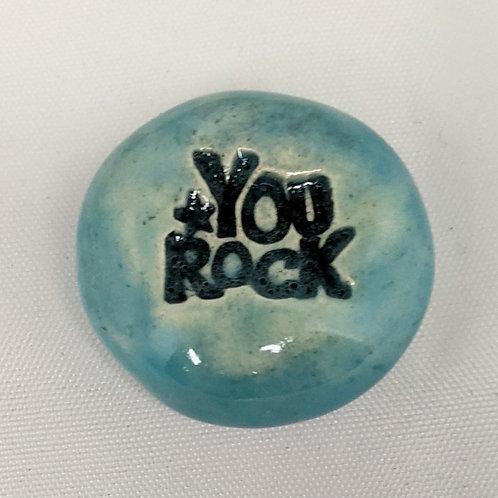 YOU ROCK Pocket Stone - Aquamarine
