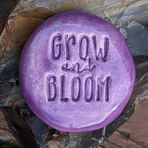 GROW and BLOOM Pocket Stone - Amethyst Purple
