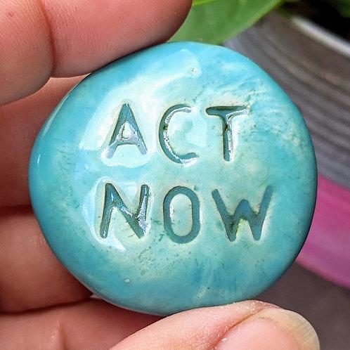 ACT NOW Pocket Stone - Robin's Egg