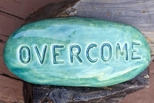 OVERCOME Pocket Stone - Turquoise
