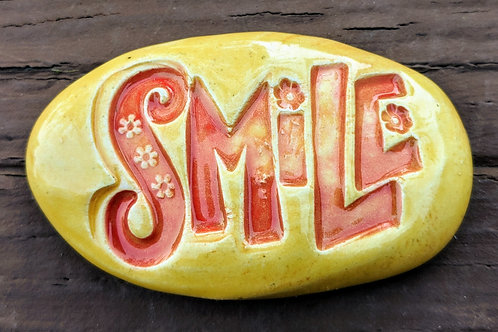 SMILE Pocket Stone - Yellow & Red