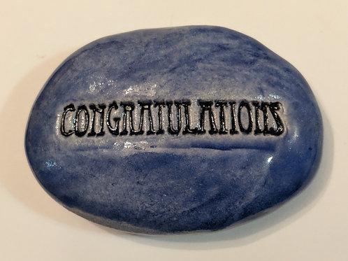 CONGRATULATIONS Pocket Stone - Exotic Blue