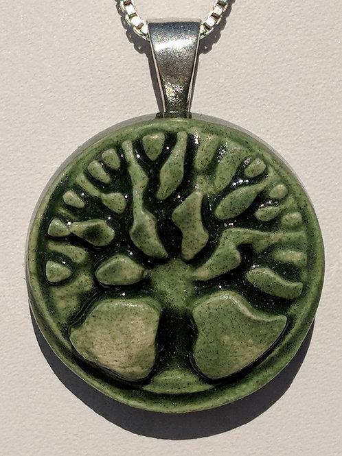 TREE OF LIFE Pendant - Kelp Forest Green
