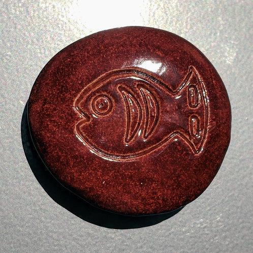 FISH Magnet - Burnt Orange