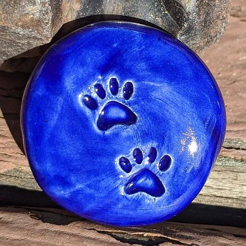 PAW PRINTS Pocket Stone - Midnight Blue