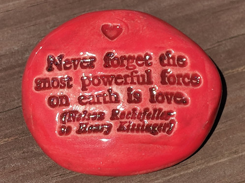 LOVE QUOTE Pocket Stone - Scarlet Red