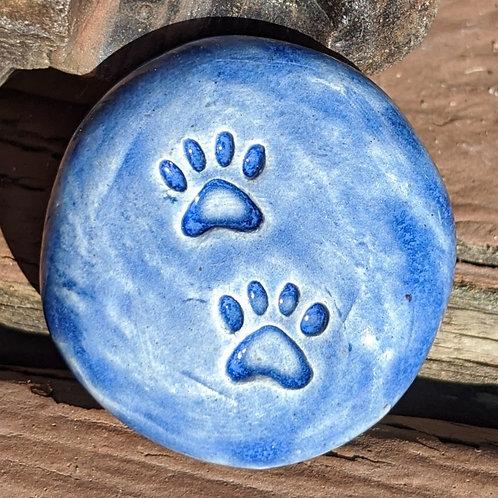PAW PRINTS Pocket Stone - Sapphire Blue