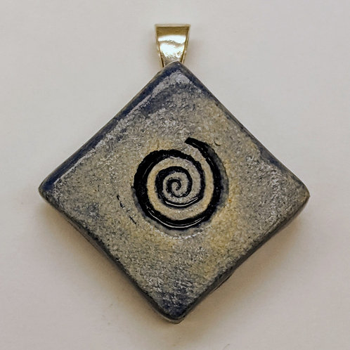 SPIRAL Pendant ~ Exotic Blue