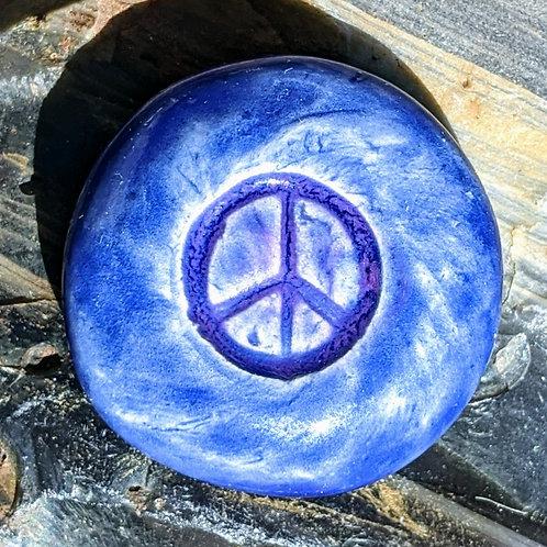 PEACE SIGN Pocket Stone - Vivid Blue
