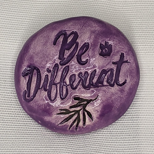 BE DIFFERENT Pocket Stone - Amethyst Purple