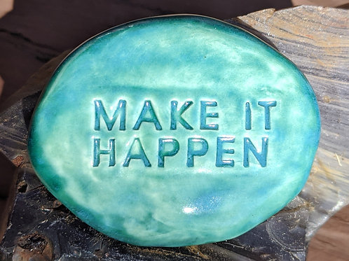 MAKE IT HAPPEN Pocket Stone - Aquamarine