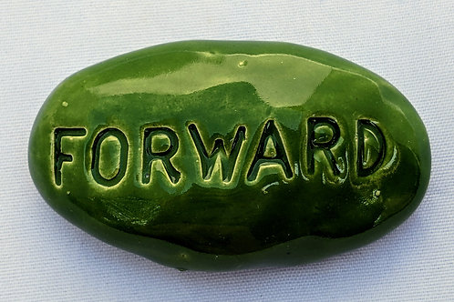 FORWARD Pocket Stone - Emerald Green