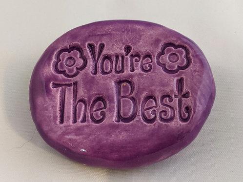 YOU'RE THE BEST Pocket Stone - Amethyst Purple