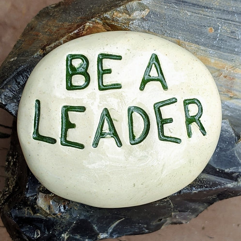 BE A LEADER Pocket Stone - Green