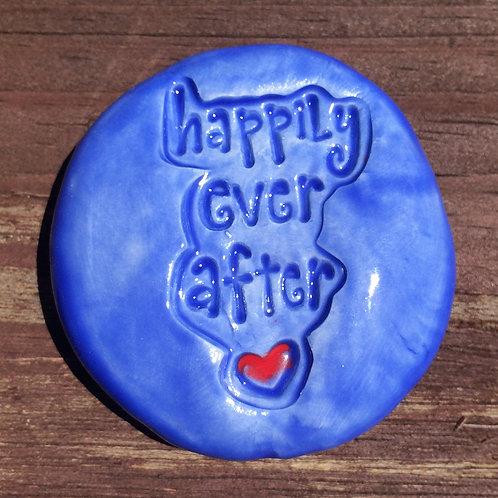 HAPPILY EVER AFTER Pocket Stone - Medium Blue