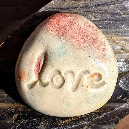 LOVE Pocket Stone - Kaleidoscope